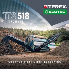Terex Ecotec Expand Trommel Range with the Launch of the New TTS 518